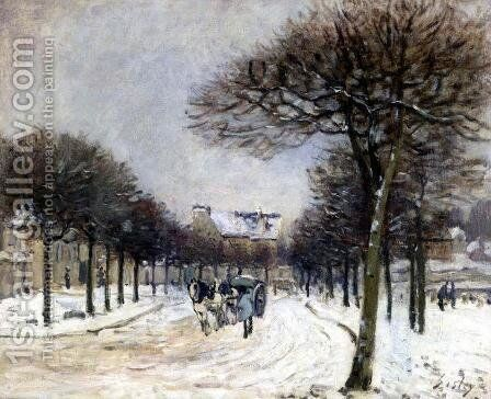 Road from Saint-Germain to Marly by Alfred Sisley - Reproduction Oil Painting