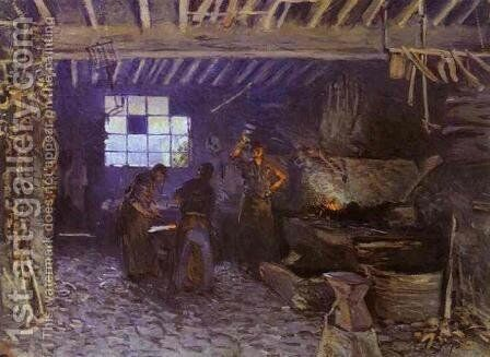 Forge at Marly-le-Roi by Alfred Sisley - Reproduction Oil Painting