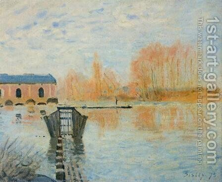 The Marly Machine and the Dam by Alfred Sisley - Reproduction Oil Painting