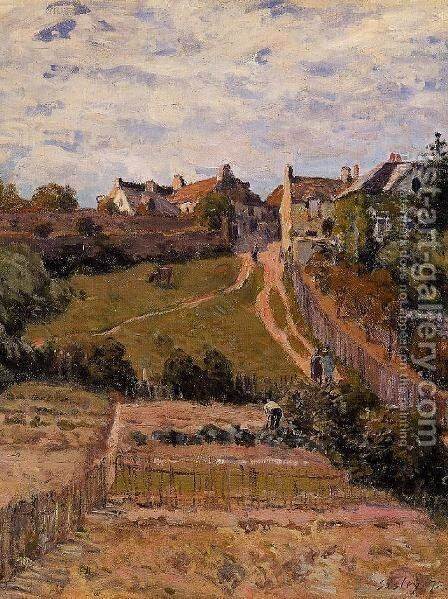 The Rising Path by Alfred Sisley - Reproduction Oil Painting