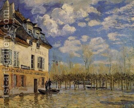 Flood at Port-Marly IV by Alfred Sisley - Reproduction Oil Painting