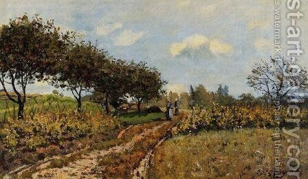 Path in the Country by Alfred Sisley - Reproduction Oil Painting