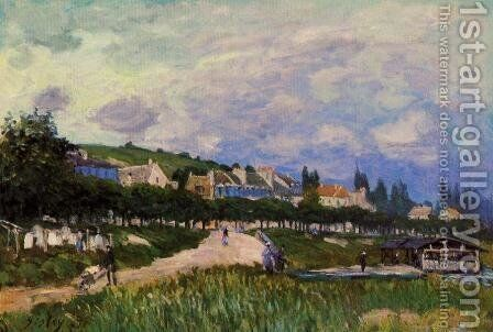 The Laundry by Alfred Sisley - Reproduction Oil Painting