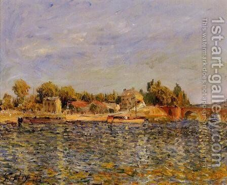 Sevres Bridge by Alfred Sisley - Reproduction Oil Painting