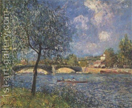 Rowers by Alfred Sisley - Reproduction Oil Painting
