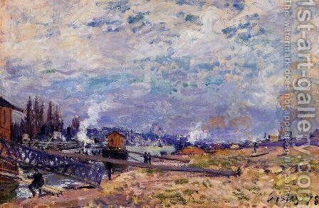The Seine at Grenelle by Alfred Sisley - Reproduction Oil Painting