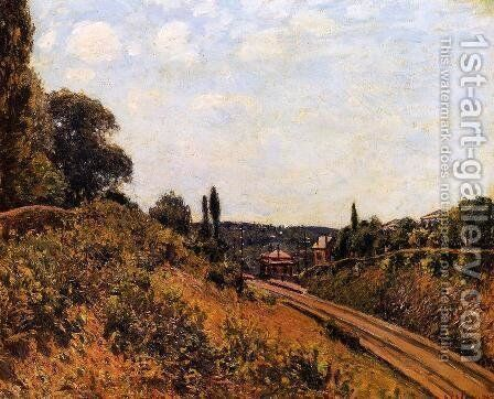 The Station at Sevres I by Alfred Sisley - Reproduction Oil Painting