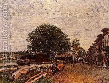 Construction Site at Saint-Mammes by Alfred Sisley - Reproduction Oil Painting