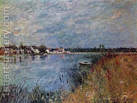 Riverbank at Saint-Mammes by Alfred Sisley - Reproduction Oil Painting