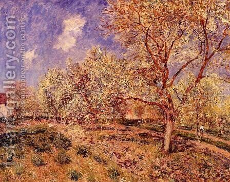 Spring at Veneux by Alfred Sisley - Reproduction Oil Painting