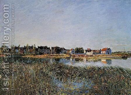 View of Saint-Mammes by Alfred Sisley - Reproduction Oil Painting