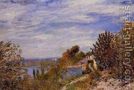Footpath in the Gardens at By by Alfred Sisley - Reproduction Oil Painting