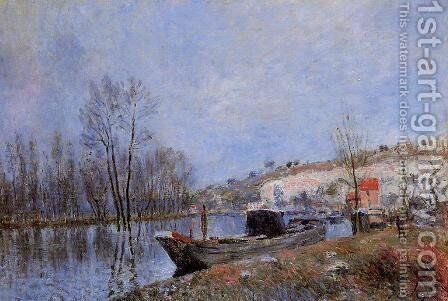 Banks of the Loing towards Moret by Alfred Sisley - Reproduction Oil Painting