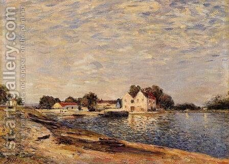Saint-Mammes, on the Banks of the Loing by Alfred Sisley - Reproduction Oil Painting
