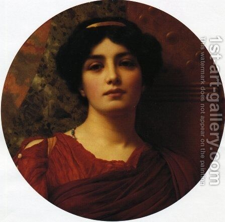 Contemplation by John William Godward - Reproduction Oil Painting