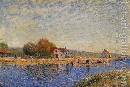 The Loing Canal by Alfred Sisley - Reproduction Oil Painting