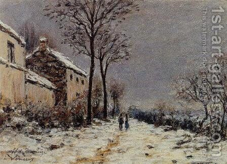 The Effect of Snow at Veneux by Alfred Sisley - Reproduction Oil Painting