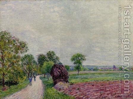 Countryside near Moret by Alfred Sisley - Reproduction Oil Painting