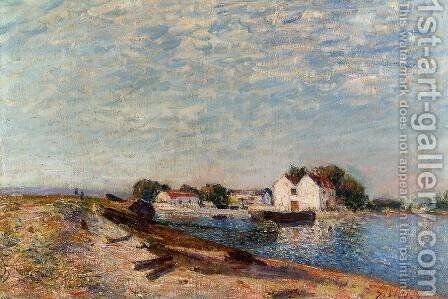 Saint-Mammes Dam I by Alfred Sisley - Reproduction Oil Painting