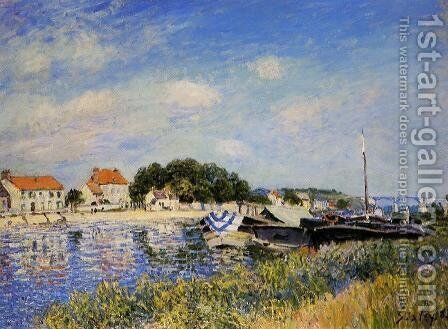 Banks of the Loing at Saint-Mammes by Alfred Sisley - Reproduction Oil Painting