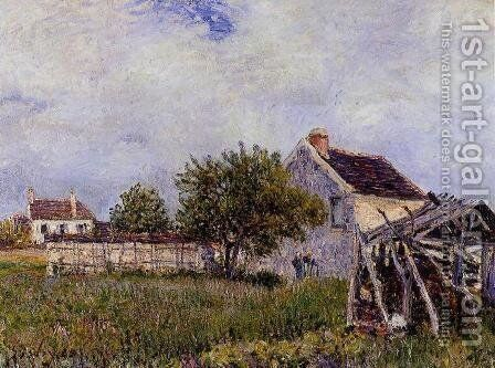 An Old Cottage at Sablons by Alfred Sisley - Reproduction Oil Painting