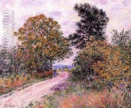 Edge of the Fountainbleau Forest - Morning by Alfred Sisley - Reproduction Oil Painting