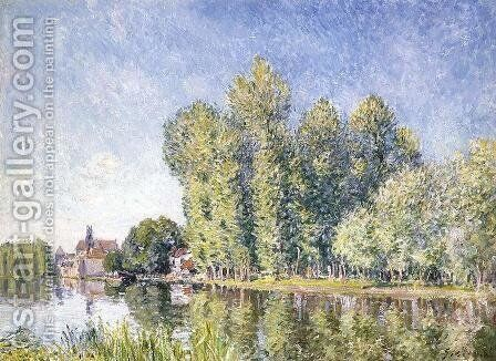 The Loing at Moret by Alfred Sisley - Reproduction Oil Painting