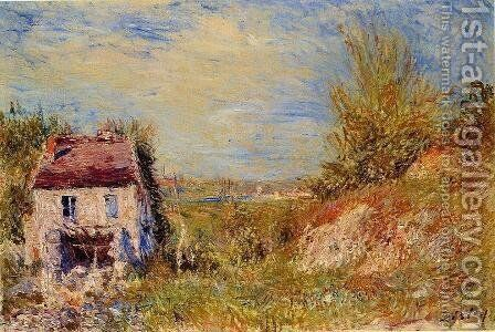 Abandoned House by Alfred Sisley - Reproduction Oil Painting