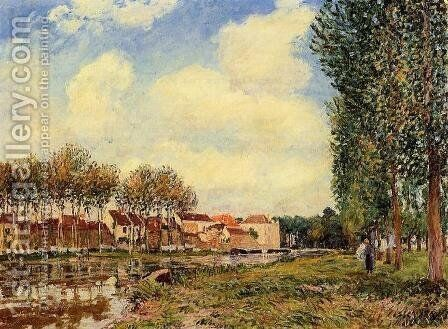 Banks of the Loing at Moret, Morning by Alfred Sisley - Reproduction Oil Painting