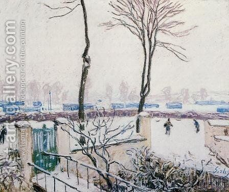 Approach to the Railway Station by Alfred Sisley - Reproduction Oil Painting