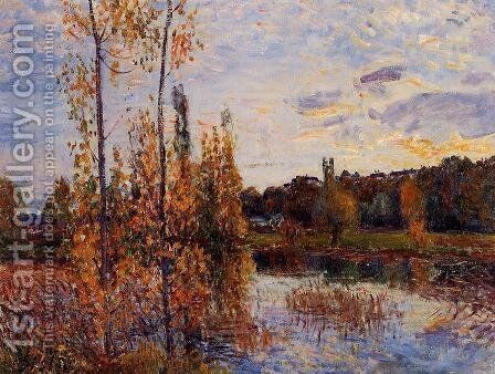 L'Etang de Chevreuil by Alfred Sisley - Reproduction Oil Painting