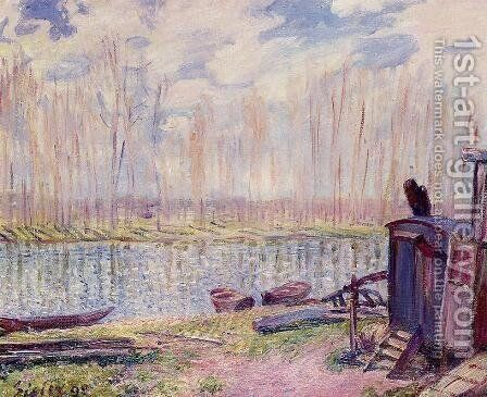 Banks of the Loing by Alfred Sisley - Reproduction Oil Painting