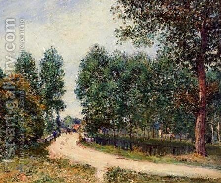 The Path from Saint-Mammes, Morning by Alfred Sisley - Reproduction Oil Painting