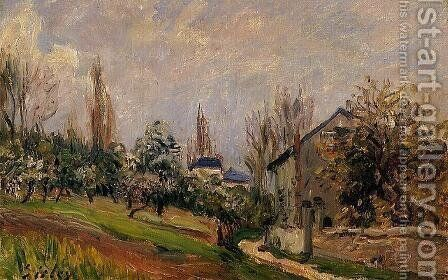 Near Moret by Alfred Sisley - Reproduction Oil Painting