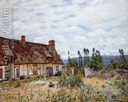 Abandoned Cottage by Alfred Sisley - Reproduction Oil Painting