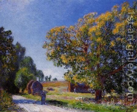 Fields around the Forest by Alfred Sisley - Reproduction Oil Painting