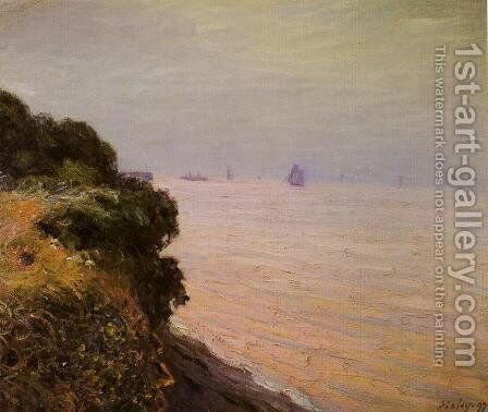 Langland Bay, England, Morning by Alfred Sisley - Reproduction Oil Painting