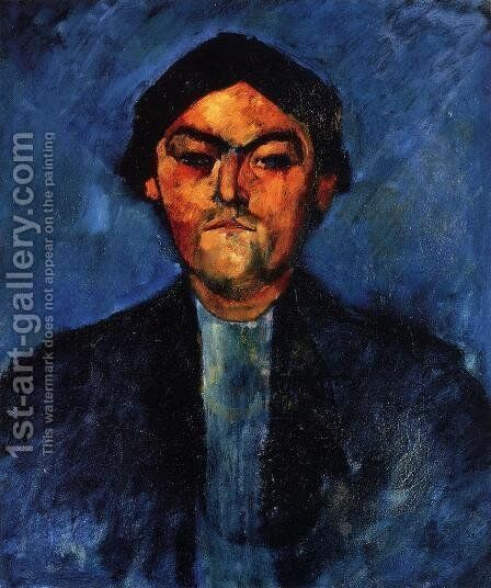 The Typographer by Amedeo Modigliani - Reproduction Oil Painting