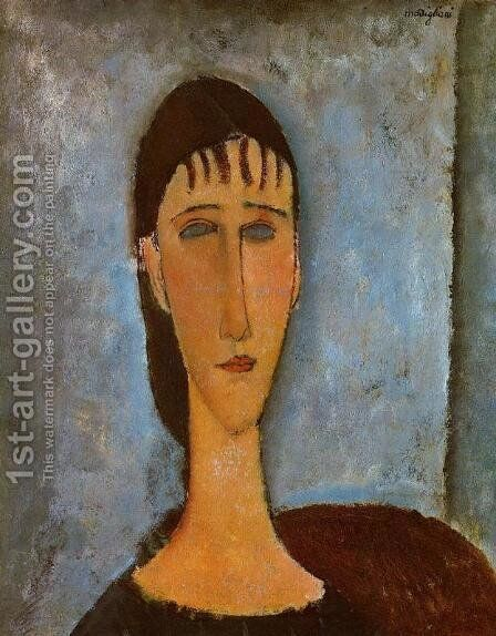 Portrait of a Young Girl by Amedeo Modigliani - Reproduction Oil Painting