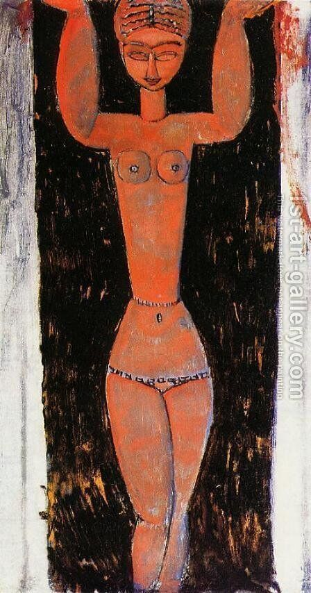 Caryatid III 2 by Amedeo Modigliani - Reproduction Oil Painting