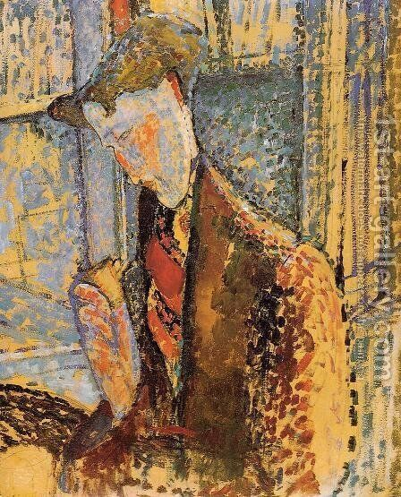 Portrait of Frank Burty Haviland by Amedeo Modigliani - Reproduction Oil Painting