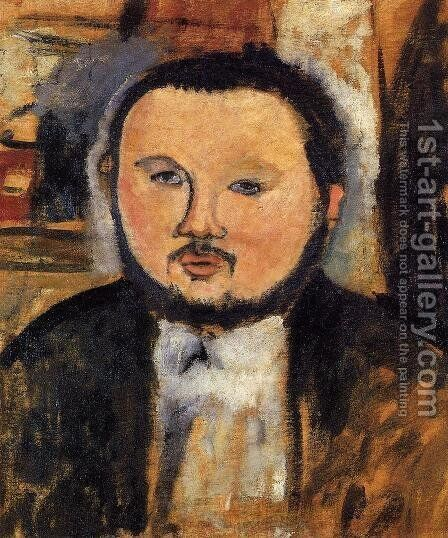 Portrait of Diego Rivera III by Amedeo Modigliani - Reproduction Oil Painting