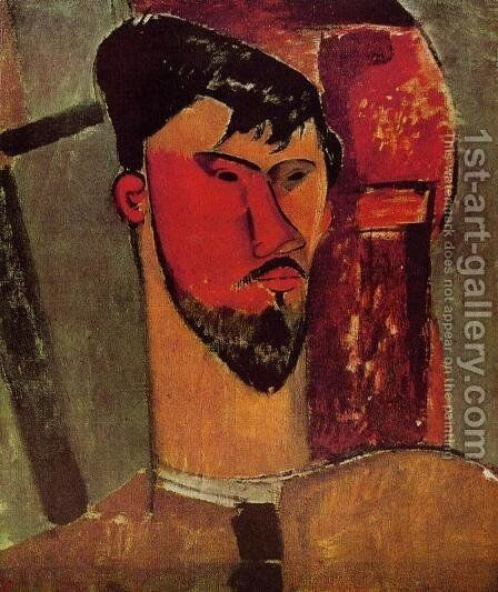 Portrait of Henri Laurens by Amedeo Modigliani - Reproduction Oil Painting