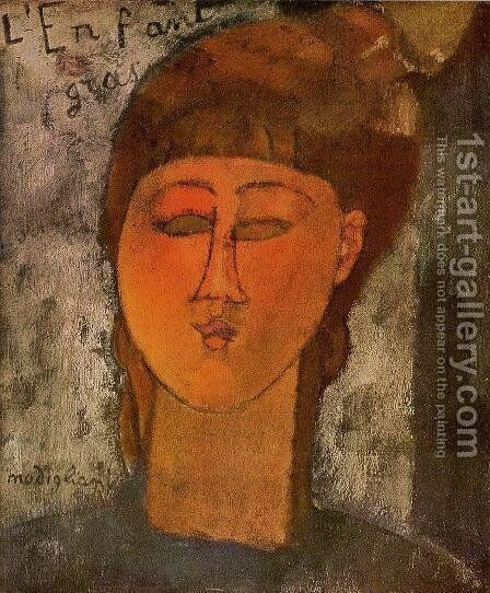 The Fat Child by Amedeo Modigliani - Reproduction Oil Painting