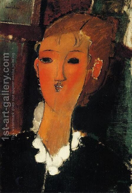 Young Woman with a Small Ruff by Amedeo Modigliani - Reproduction Oil Painting