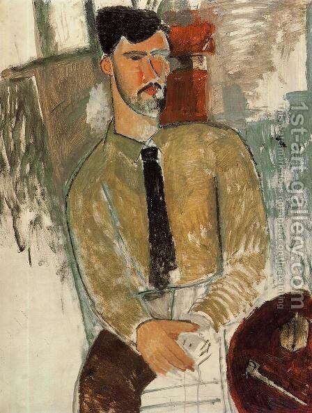 Portrait of Henri Laurens I by Amedeo Modigliani - Reproduction Oil Painting