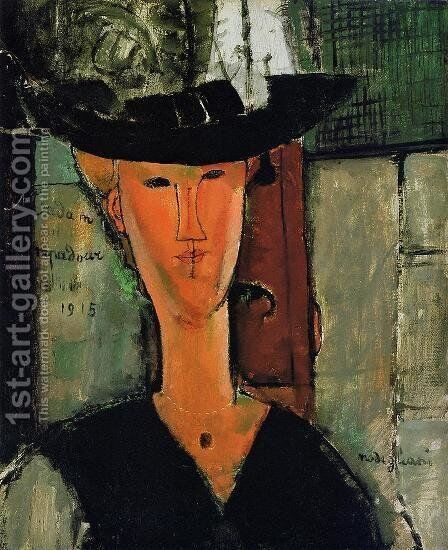 Madame Pompador by Amedeo Modigliani - Reproduction Oil Painting