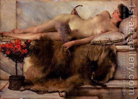 In the Tepidarium by Sir Lawrence Alma-Tadema - Reproduction Oil Painting