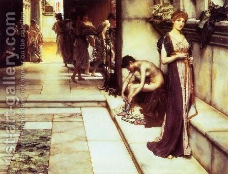 The Apodyterium by Sir Lawrence Alma-Tadema - Reproduction Oil Painting
