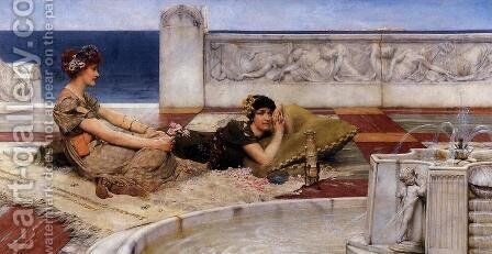Loves Votaries by Sir Lawrence Alma-Tadema - Reproduction Oil Painting